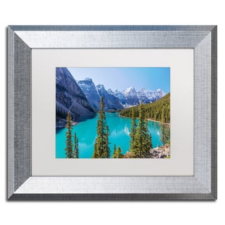 Pierre Leclerc 'Turquoise Moraine Lake' Matted Framed Art