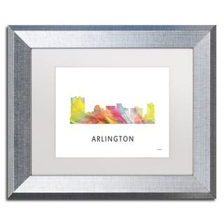 Marlene Watson 'Arlington Texas Skyline WB-1' Matted Framed Art