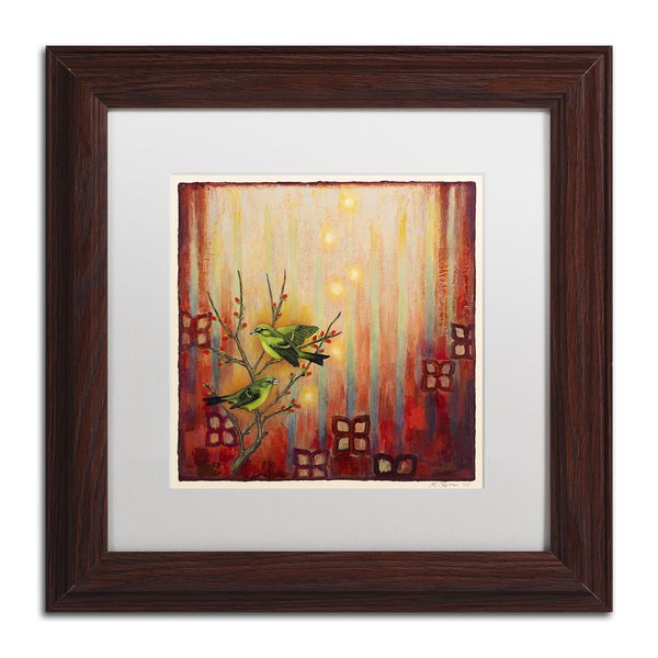 Rachel Paxton 'Sunset Birds' Matted Framed Art