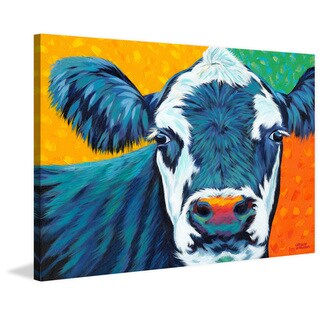 Marmont Hill - 'Country Cow I' Painting Print on Wrapped Canvas
