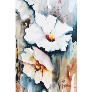 Marmont Hill - 'White Floral Spread II' Painting Print on Wrapped Canvas