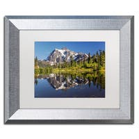 Pierre Leclerc 'Picture Lake' Matted Framed Art