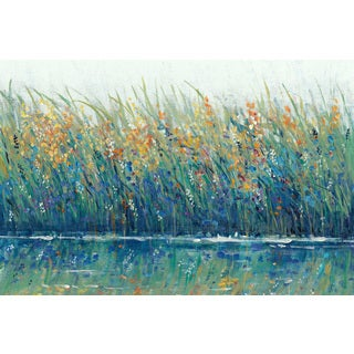 Marmont Hill - 'Wildflower Reflection II' Painting Print on Wrapped Canvas