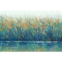 Marmont Hill - 'Wildflower Reflection II' Painting Print on Wrapped Canvas - Multi-color