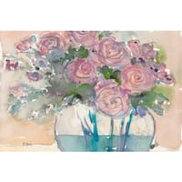 Marmont Hill - 'Faded Pink' Painting Print on Wrapped Canvas - Multi-color
