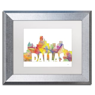 Marlene Watson 'Dallas Texas Skyline Mclr-2' Matted Framed Art