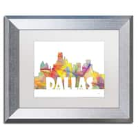 Marlene Watson 'Dallas Texas Skyline Mclr-2' Matted Framed Art