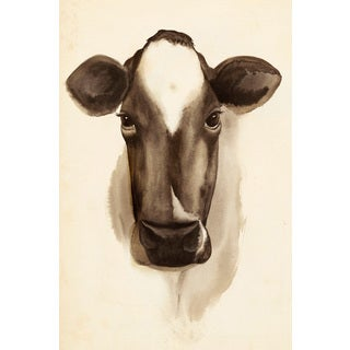 Marmont Hill - 'Bovine Stare II' Painting Print on Wrapped Canvas