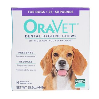 OraVet Dog Dual-action Dental Hygiene Chews - White
