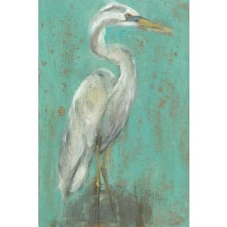 Marmont Hill - 'Seaspray Heron I' Painting Print on Wrapped Canvas