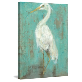 Marmont Hill - 'Seaspray Heron II' Painting Print on Wrapped Canvas