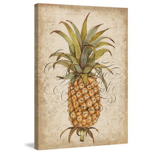 Marmont Hill - 'Pineapple Study II' Painting Print on Wrapped Canvas