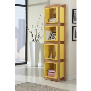 Christopher Knight Home Open Bookshelf with 4 Yellow Shelves
