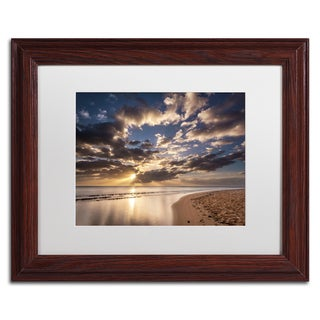 Pierre Leclerc 'Kauai Beach Sunrise' Matted Framed Art
