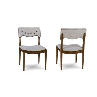 A.R.T. Furniture Epicenters Silver Lake Brown Wood Upholstered Dining Chair (Set of 2)