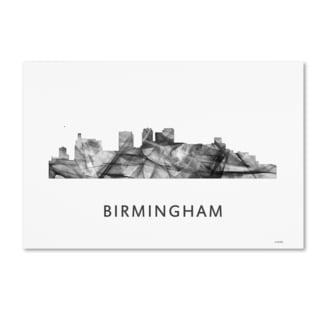 Marlene Watson 'Birmingham Alabama Skyline WB-BW' Canvas Art