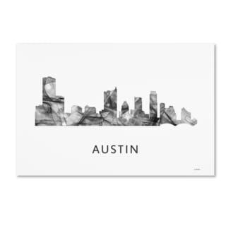 Marlene Watson 'Austin Texas Skyline WB-BW' Canvas Art