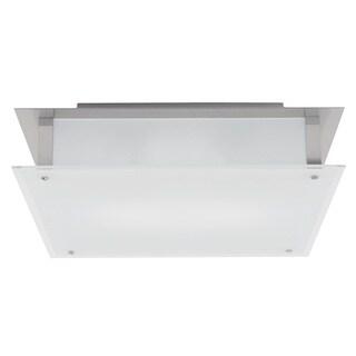 Access Lighting Vision 2-light Brushed Steel 18-inch Flush Mount