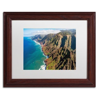 Pierre Leclerc 'Napali Coast' Matted Framed Art