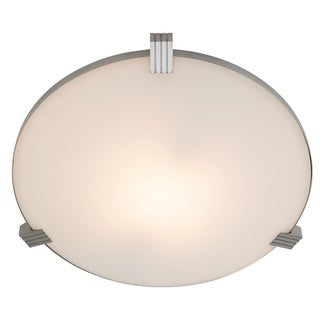 Access Lighting Luna 1-light Brushed Steel Flush Mount