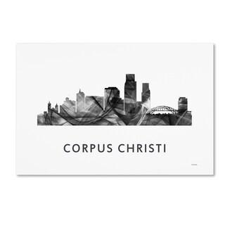 Marlene Watson 'Corpus Christi Texas Skyline WB-BW' Canvas Art