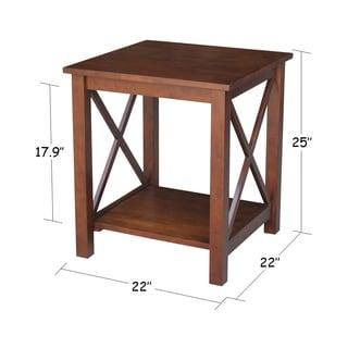 Hampton Espresso Wood End Table
