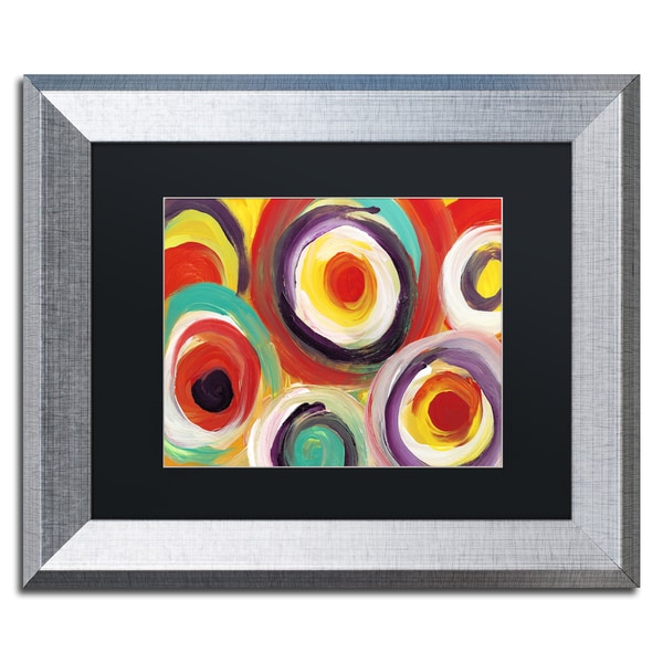 Amy Vangsgard 'Bright Bold Circles 2' Matted Framed Art