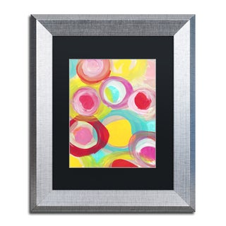 Amy Vangsgard 'Colorful Sun Circles Vertical 1' Matted Framed Art