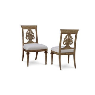 A.R.T. Furniture Pavilion Brown Wood Upholstered Dining Chairs (Set of 2)