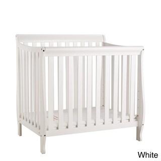 Mikaila Loren Pinewood Mini Crib With Mattress Pad