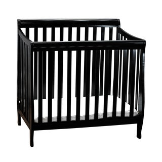Mikaila Loren Pinewood Mini Crib With Mattress Pad