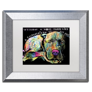 Dean Russo 'Without a Word' Matted Framed Art