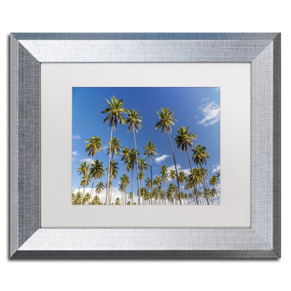 Pierre Leclerc 'Coconut Grove' Matted Framed Art