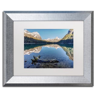 Pierre Leclerc 'Lake O'Hara Reflection' Matted Framed Art