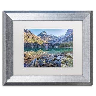 Pierre Leclerc 'Lake O'Hara Mountain Haven' Matted Framed Art