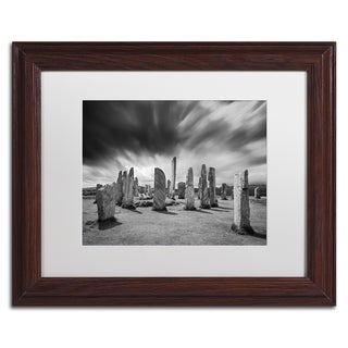 Michael Blanchette Photography 'Callanish Clouds' Matted Framed Art