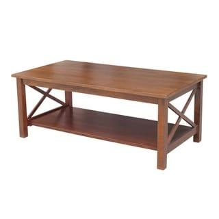 Hampton Brown Wood Coffee Table