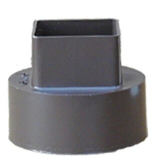 """Raingo RB207 4"""" Brown Downspout Adapter"""
