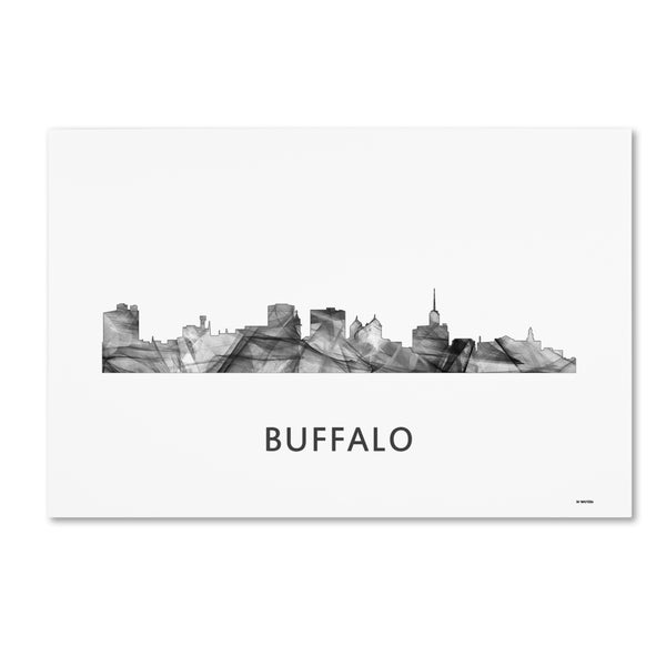 Marlene Watson 'Buffalo New York Skyline WB-BW' Canvas Art