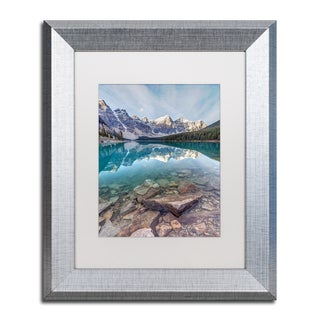 Pierre Leclerc 'Iconic Moraine Lake' Matted Framed Art