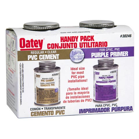 Oatey 30246 4 Oz Solvent Cement Handy Pack 2 Count