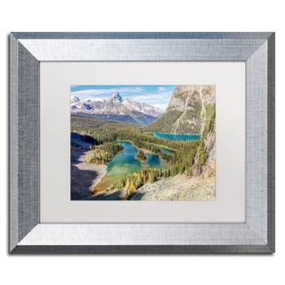 Pierre Leclerc 'Mary Lake' Matted Framed Art