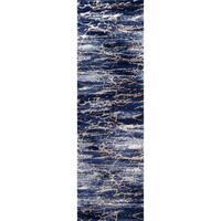 """Momeni Monterey Blue Runner Rug - 2'3"""" x 7'6"""""""