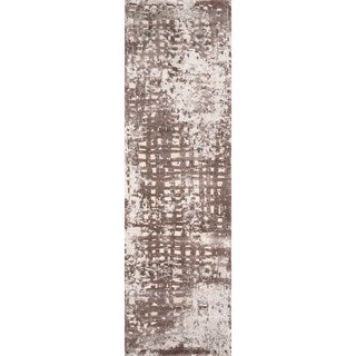 """Machine Made Sutton Beige Polypropylene & Polyester Rug (2'3"""" x 7'6"""")"""