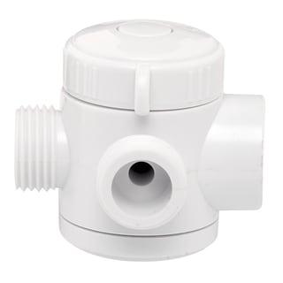 Plumb Craft Waxman 7654100 White 3-Way Shower Diverter Valve