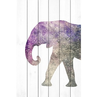 Marmont Hill - 'Elephant Galaxy' by Diana Alcala Painting Print on White Wood