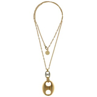 Isla Simone - 18 Karat Gold & Silver Plated Figure 8 Necklace