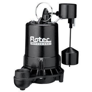 Flotec E75VLT 3/4 HP Cast Iron Professional Series Submersible Sump Pump