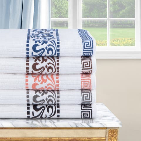 Modern Geometric 6-Piece Cotton Towel Set by Miranda Haus
