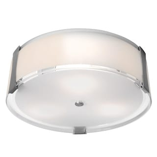Access Lighting Tara 3-light Brushed Steel Flush Mount